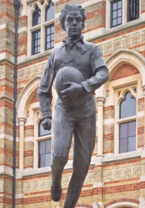 Statue of the young William Webb Ellis, Rugby. Source: socialregister.co.uk